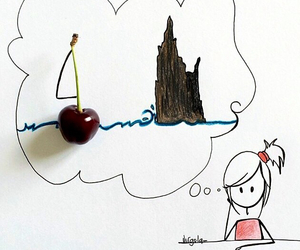 boat, cherry, and Dream image