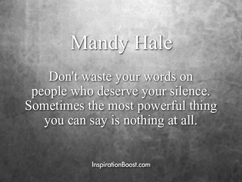 Mandy Hale Silence Quotes | Inspiration Boost | Inspiration ...