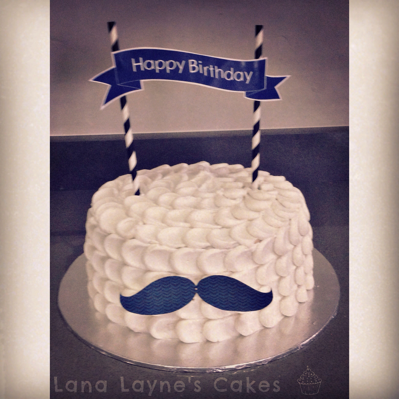 Fabulous Mustache Birthday Cake Discovered By Lana On We Heart It Personalised Birthday Cards Veneteletsinfo
