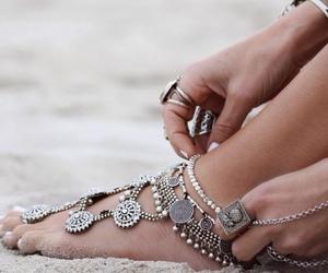 beach, hippie, and jewelery image