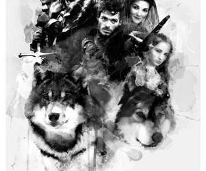 game of thrones, stark, and jon snow image