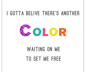 believe, Lyrics, and color image