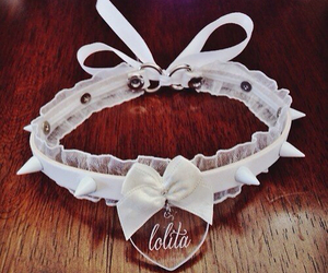 collar, lolita, and heart image