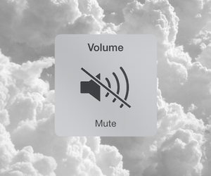 clouds, mute, and volume image
