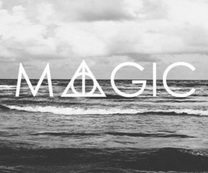 black and white, harry potter, and magic image
