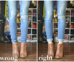 boots, jeans, and Right image