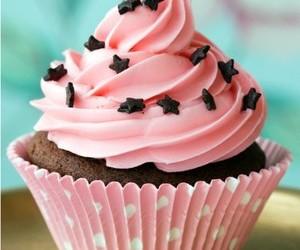 cupcake, pink, and stars image