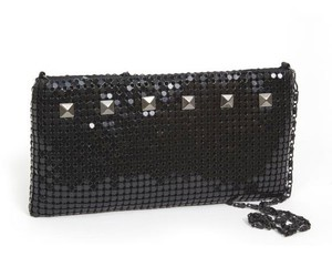 black, clutch, and mesh image