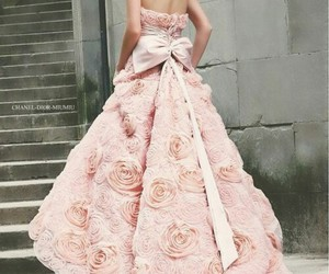 bow, stairs, and weddingdress image