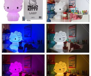 HelloKitty, lamp, and cute image