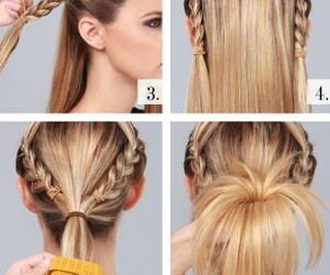 blonde, braid, and hairstyle image