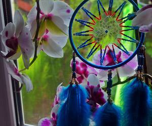 blue, nice, and dreamcatcher image