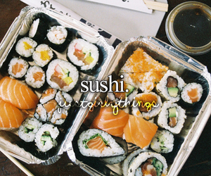 sushi, food, and just girly things image