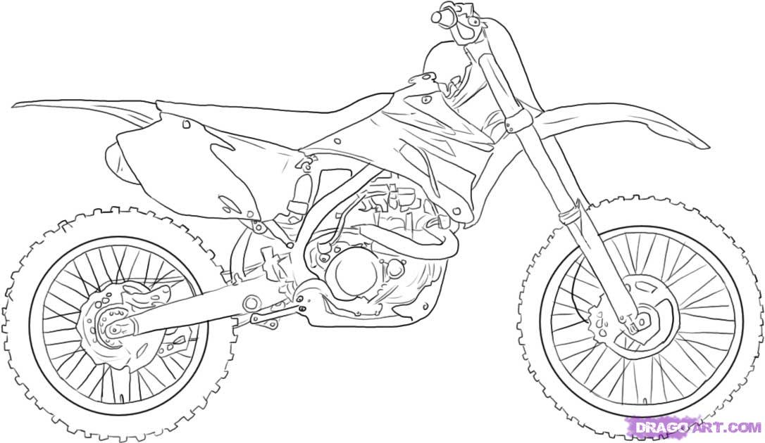 dirt bike coloring pages for kids enjoy coloring