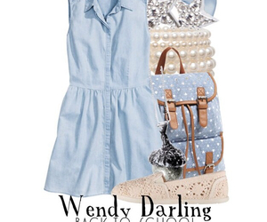 disney, disney fashion, and wendy darling image