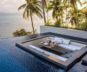 pool, luxury, and summer image