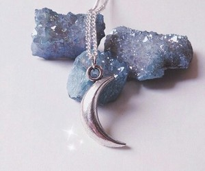 moon, blue, and crystal image