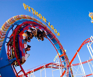 Roller Coaster, photography, and cool image