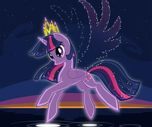 MLP, night, and twilight sparkle image