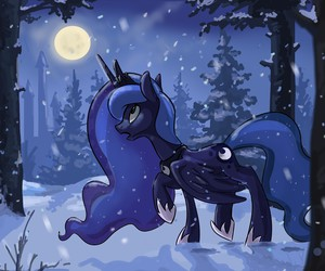 MLP, moon, and night image