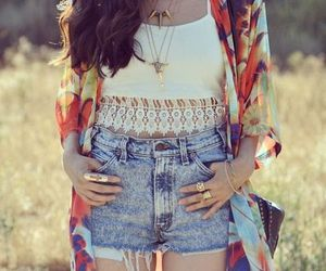 denim, lace, and style image