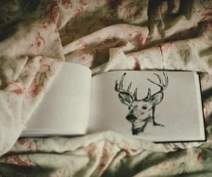 deer, vintage, and drawing image