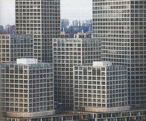 art, skyscraper, and city image