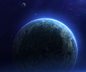 earth, heart, and stars image