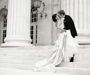 beautiful, wedding, and black and white image