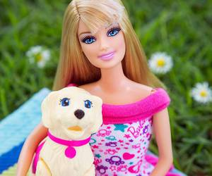 barbie, dog, and doll image
