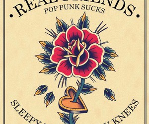 bands, pop punk, and real friends image