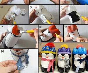 diy, pinguinos, and plastico image