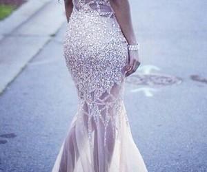 dress, white, and amazing image