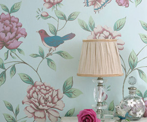 floral and bird image