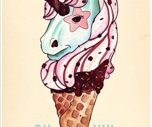 unicorn, ice cream, and unicone image