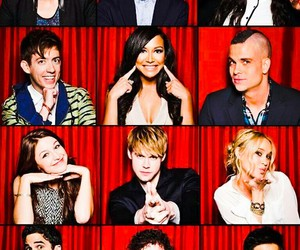 glee, darren criss, and dianna agron image