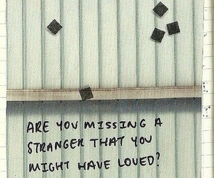 quote, stranger, and missing image