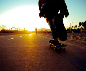 skate, skateboard, and boy image