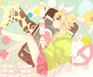 vocaloid, kagamine rin, and anime image