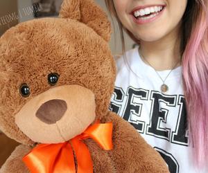 girl, bear, and hair image