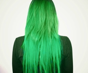 hair, green, and hair color image