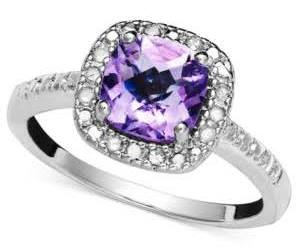 amethyst, diamonds, and jewelry image