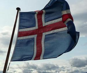 clouds, flag, and iceland image