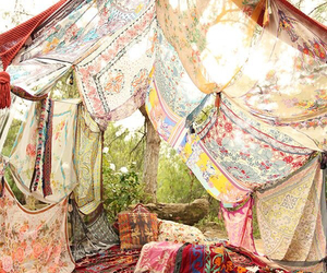 boho, tent, and nature image