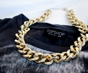 fashion, topshop, and gold image