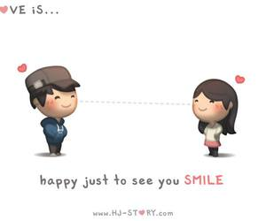 love, smile, and happy image