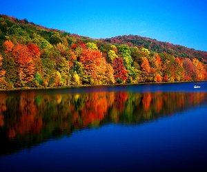 autumn, lakes, and mountains image