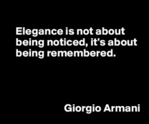 Armani, elegance, and quote image
