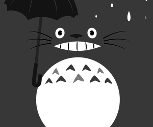 wallpaper, totoro, and grey image