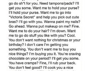 boyfriend, cramps, and periods image